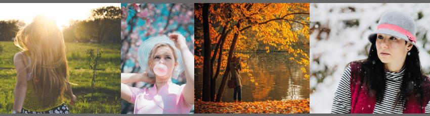 Farbtypen Frühling Sommer Herbst Winter