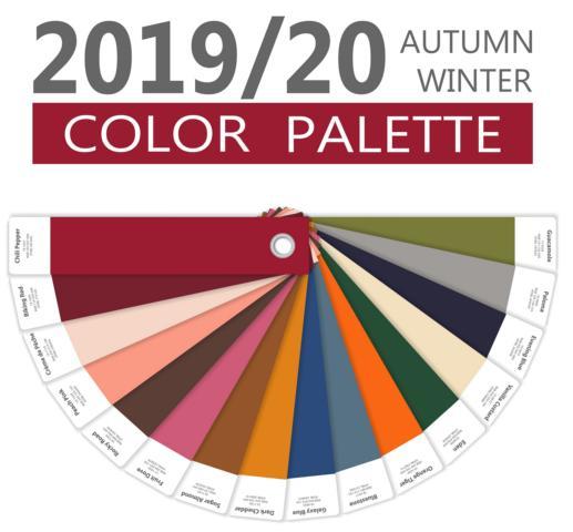 Farbpalette Herbst 2019