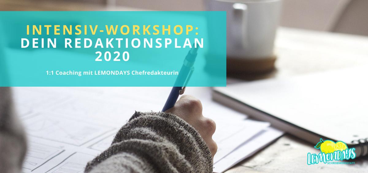 Redaktionsplan Workshop