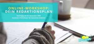 Redaktionsplan Workshop für Blogger und Podcaster