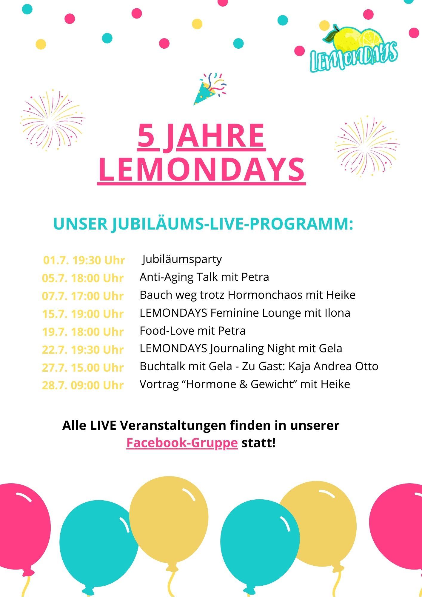 Live Events Juli 21